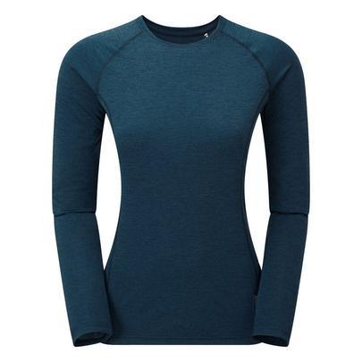 Montane Women's Long Sleeved Dart T-Shirt - Narwhal Blue