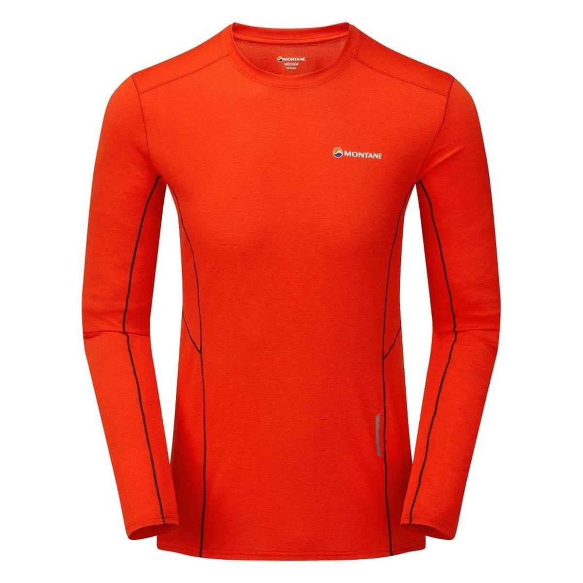 Montane Men's Sabre Long Sleeved T-Shirt - Flag Red