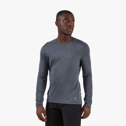 On Men's Performance Long Sleeve T-Shirt - Grey