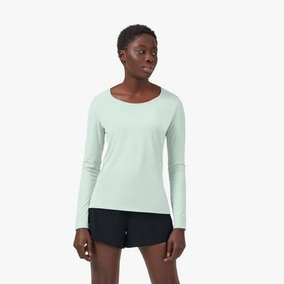 On Women's Performance Long T-Shirt - Mineral