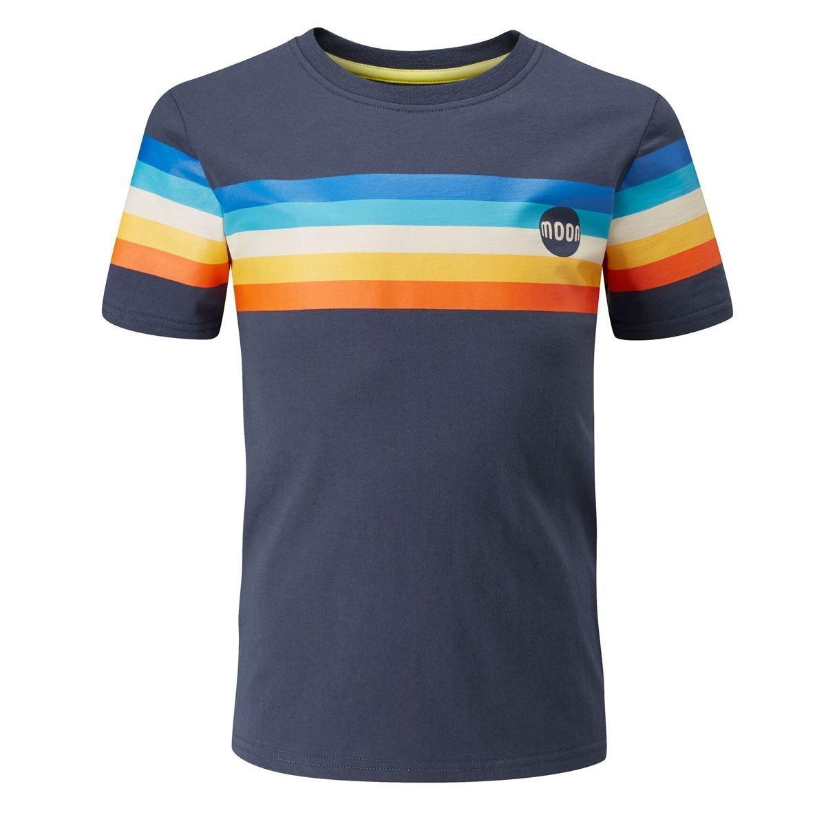 Moon Kids' Half Moon Retro Stripe T-Shirt