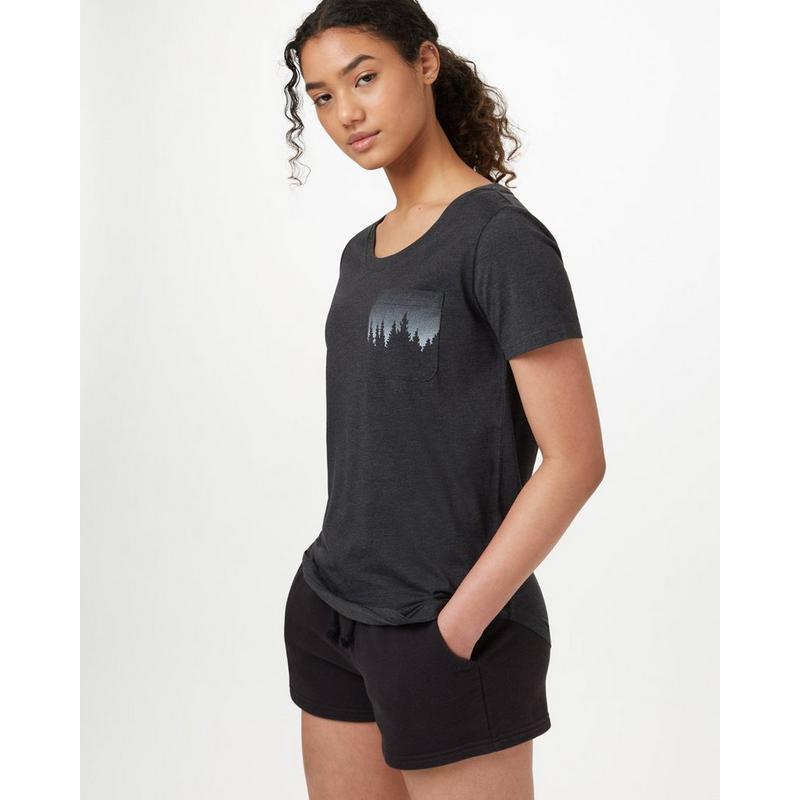 Women's Juniper Pocket T-Shirt - Black