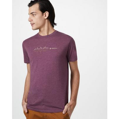 Tentree Men's Sound Wave Classic T-Shirt - Purple