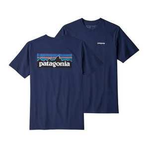 Men's Patagonia P6 Logo Responsibili Tee - Navy