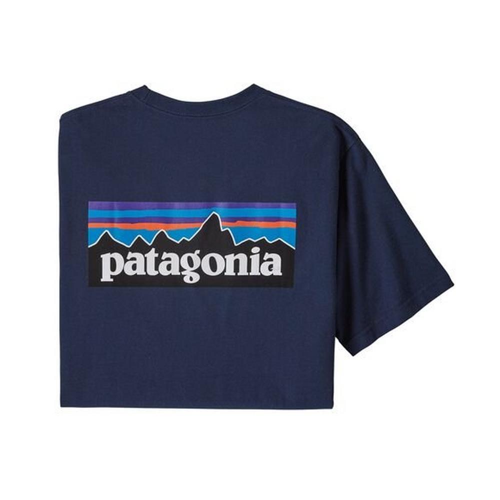 Patagonia Men's Patagonia P6 Logo Responsibili Tee - Navy