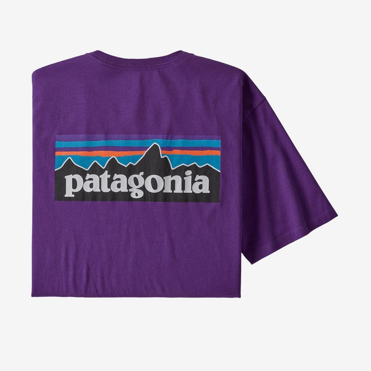 Patagonia Men's Patagonia P6 Logo Organic T Shirt - Purple