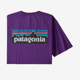 Men's Patagonia P6 Logo Organic T Shirt - Purple