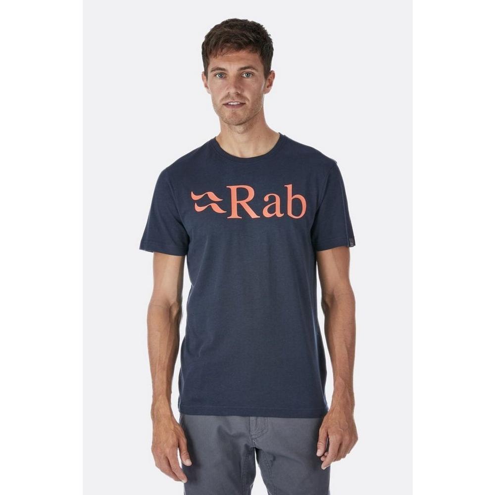 Rab Men's Rab Stance Logo SS Tee - Grey