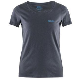 Women's Fjallraven Logo T Shirt - Navy