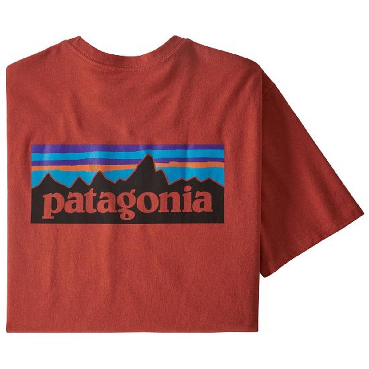 Patagonia Men's P6 Logo Responsibili-Tee - Hot Ember