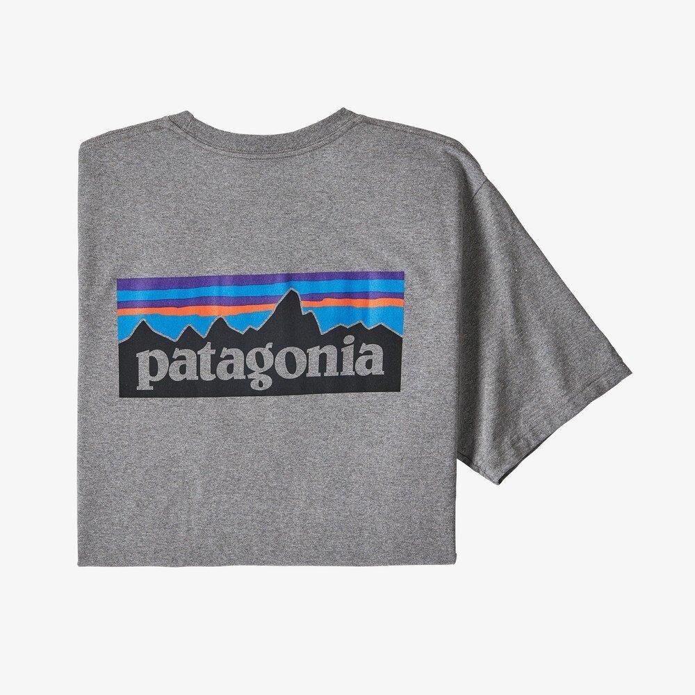 Patagonia Men's P6 Logo Responsibili-Tee - Gravel Heather
