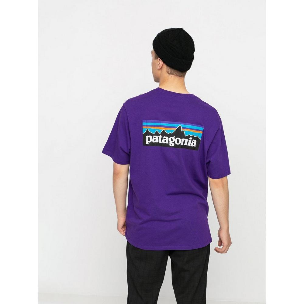 Patagonia Men's P6 Logo Responsibili-Tee - Piton Purple