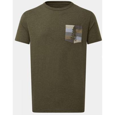 Tentree Men's Stripe Pocket SS T-Shirt - Green