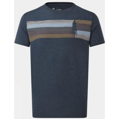 Tentree Men's Spruce Stripe SS T-Shirt - Blue