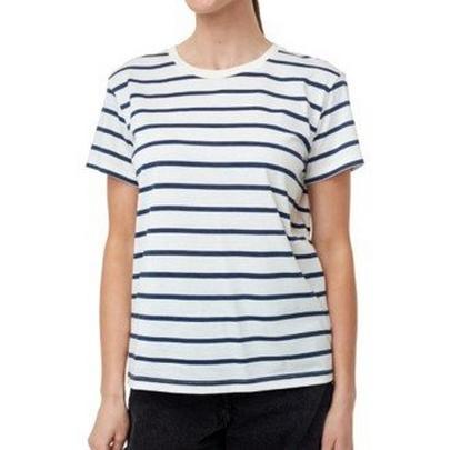 Tentree Women's Breton Stripe T-Shirt - White