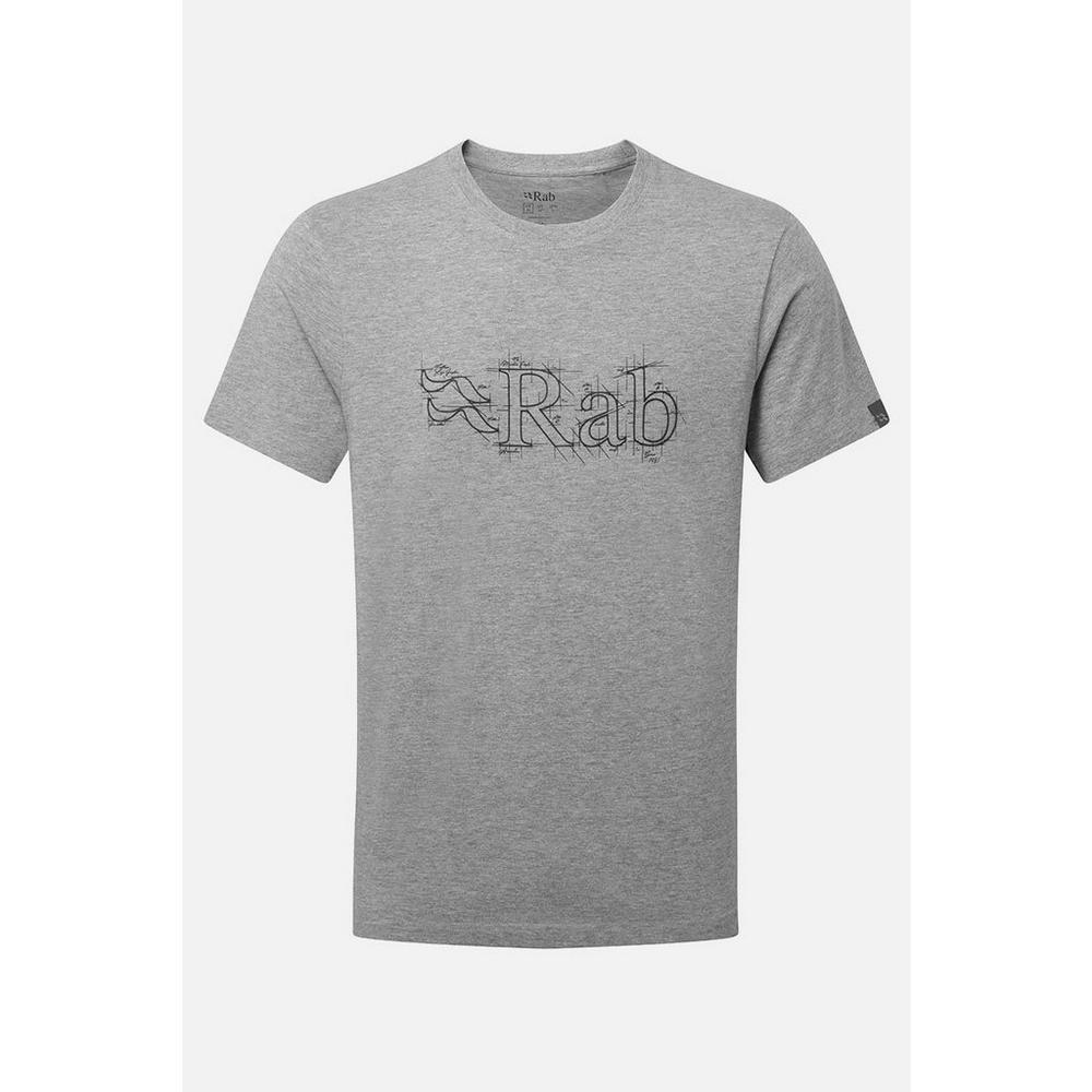 Rab Men's Stance Sketch Tee - Grey