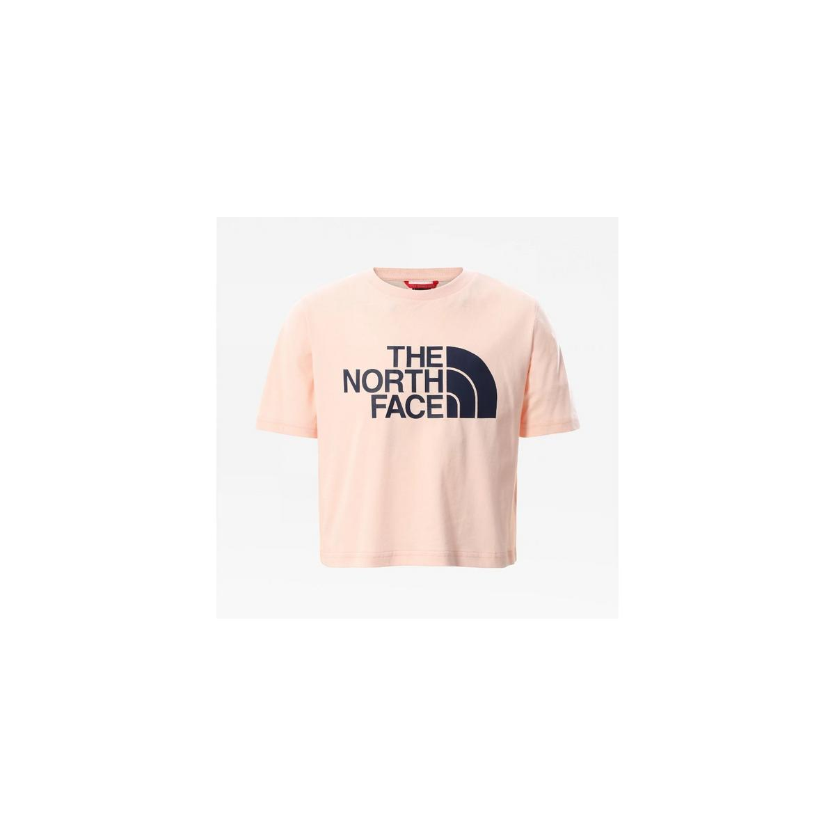 The North Face Girls Easy Crop Tee - Pearl Blush