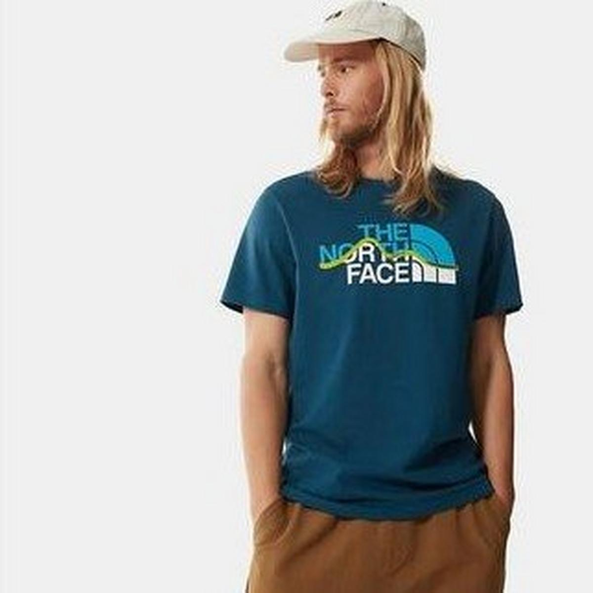 The North Face Men's Mountain Line Tee - Monterey Blue