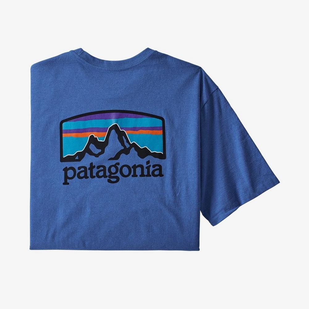 Patagonia Men's Fitz Roy Horizons Responsibili-Tee - Bayou Blue