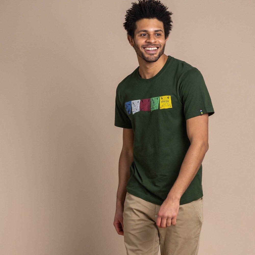Sherpa Adventure Men's Tarcho T-Shirt - Mewa Green