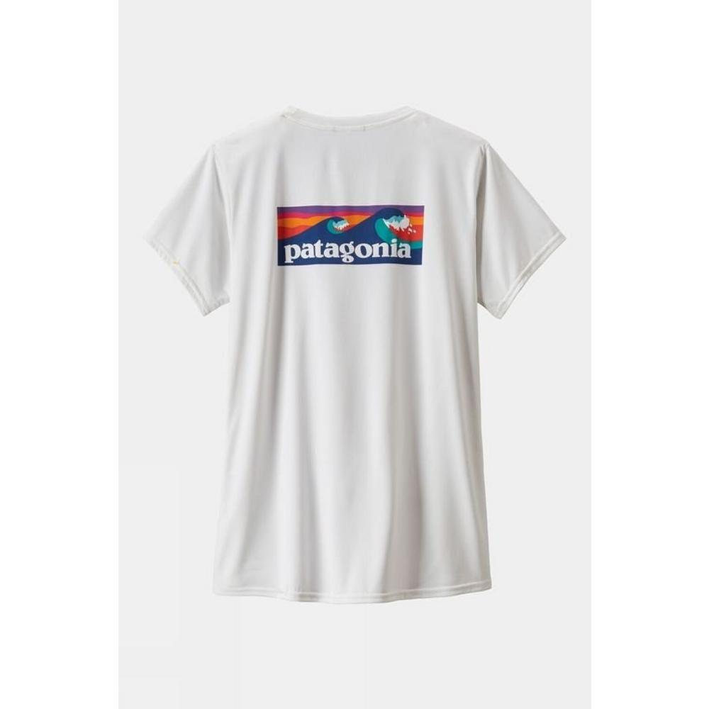 Patagonia Women's Capeline Cool Daily Graphic Shirt - Boardshort White