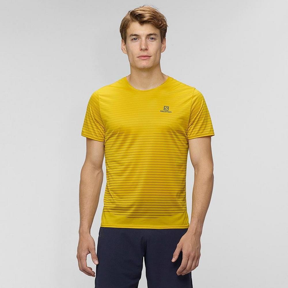 Salomon Men's Sense Tee - Yellow