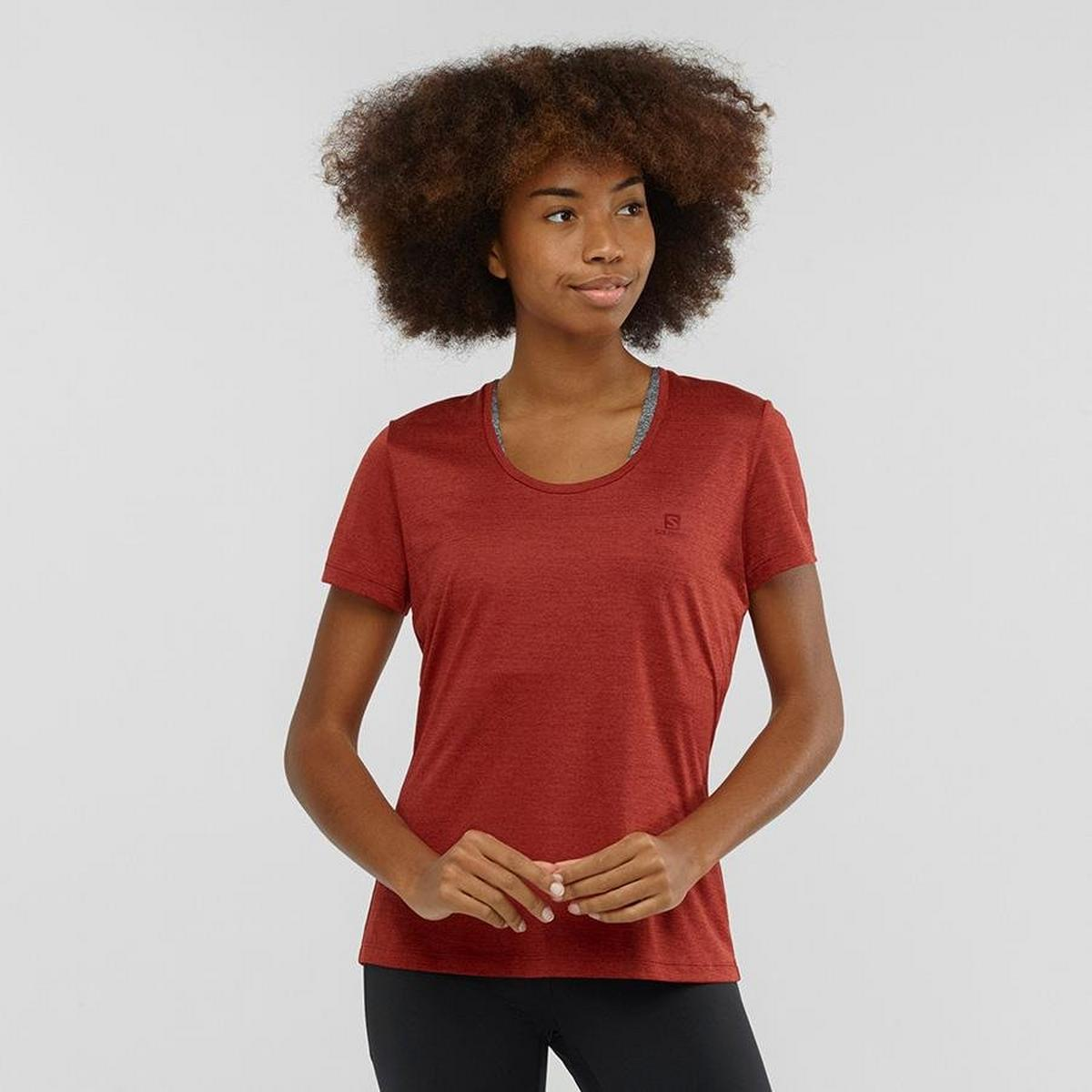Salomon Women's Salomon Agile SS T-Shirt - Red