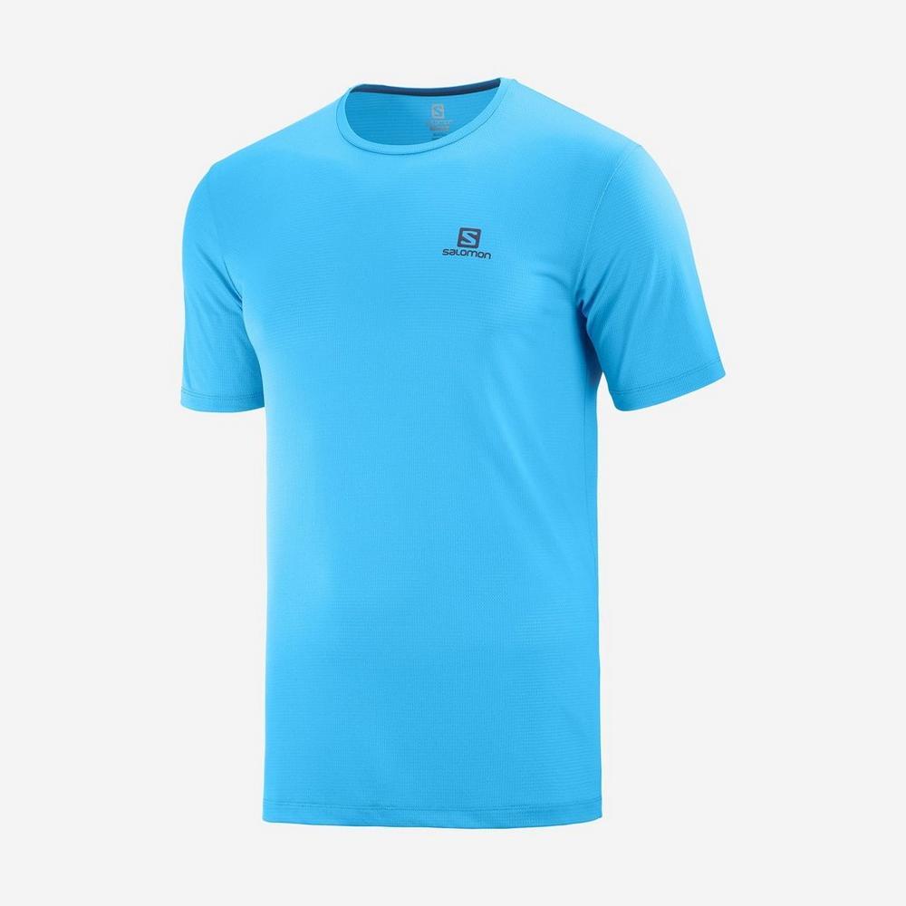Salomon Men's Agile Training Tee - Blue
