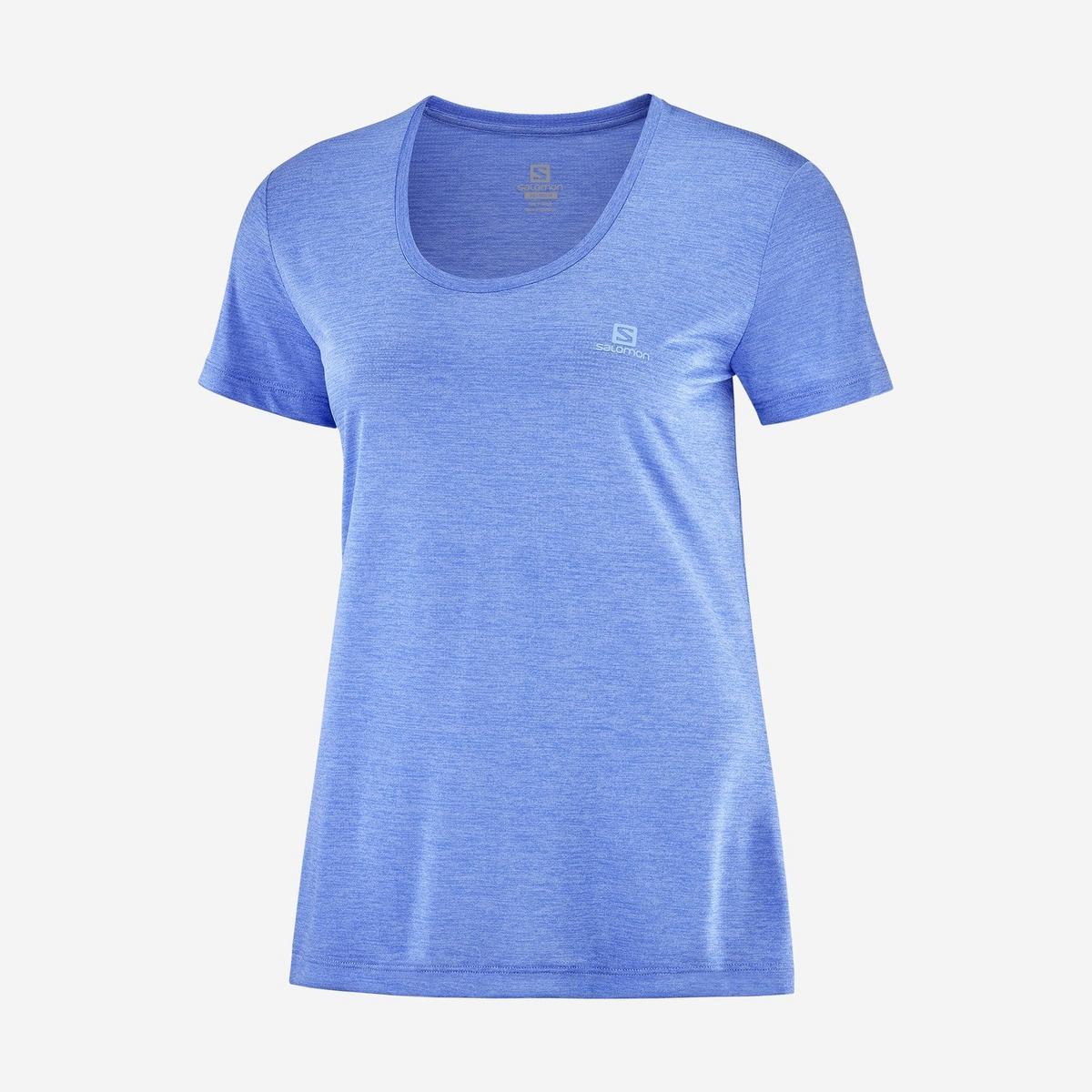 Salomon Women's Agile SS Tee - Blue