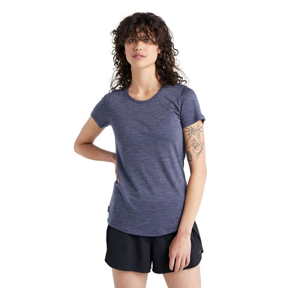 Icebreaker Women's Sphere Short Sleeved Scoop T-Shirt - Navy