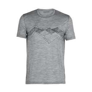 Men's SS Crewe Peak Patterns - Grey