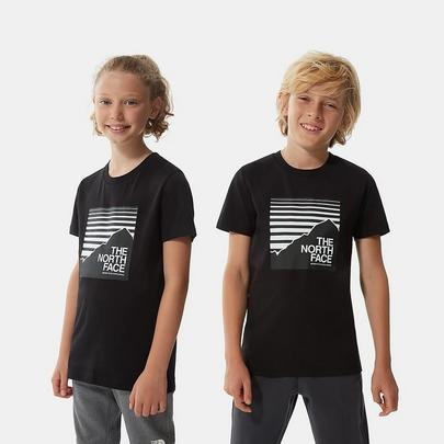 The North Face Kids Box T-Shirt - Black Stripe
