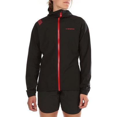 La Sportiva Women's Run Jacket - Black Hibiscus