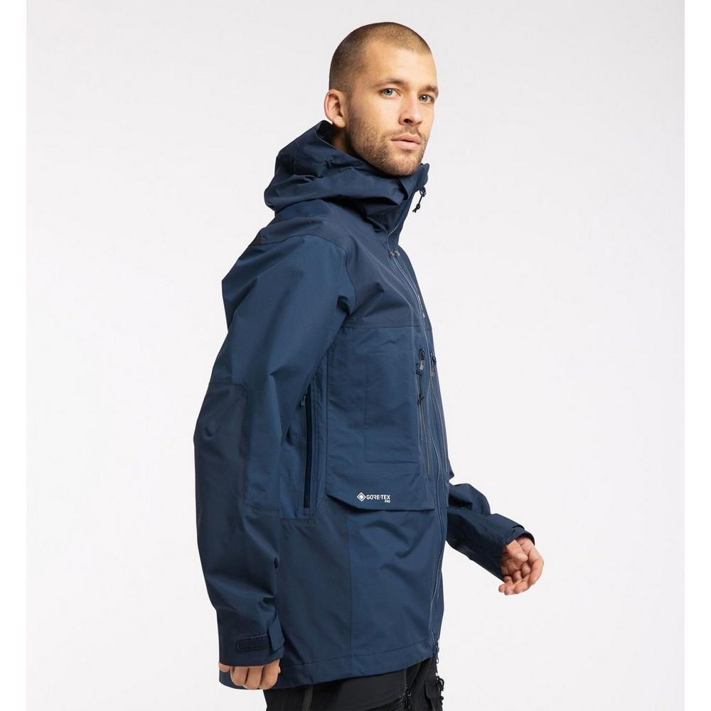 Haglofs Men's Haglofs Roc Nordic GTX Pro Waterproof Jacket - Navy