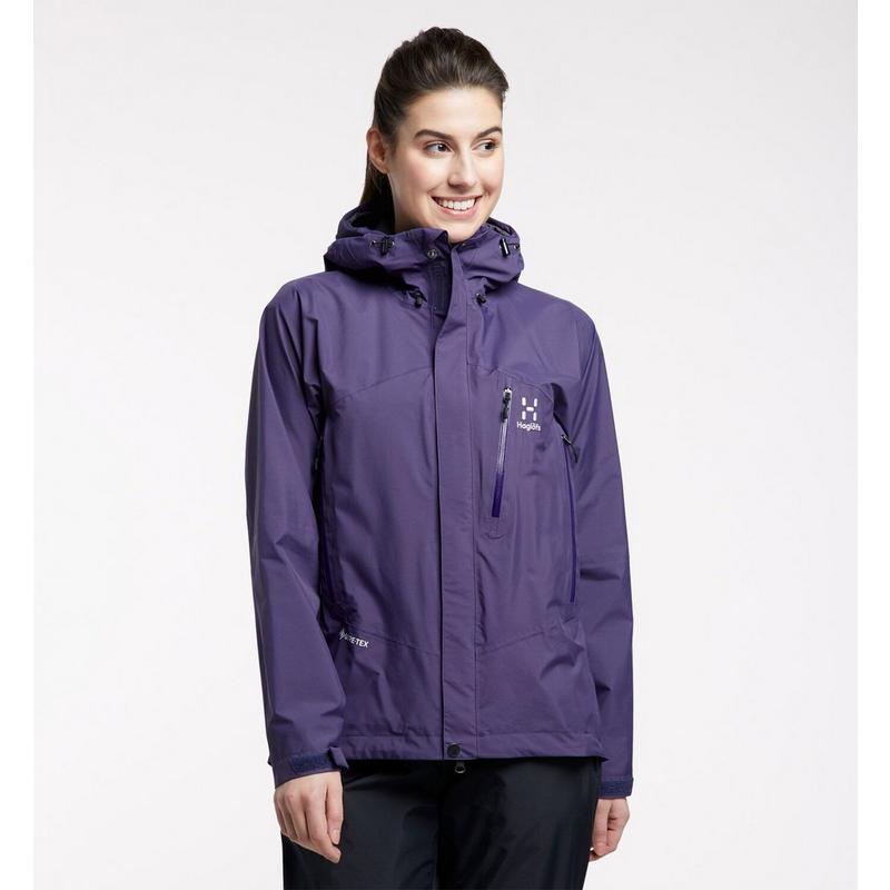Women's Haglofs Astral GTX Waterproof Jacket - Purple