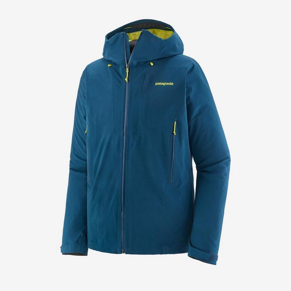 Patagonia Men's Patagonia Galvanized Waterproof Jacket - Blue