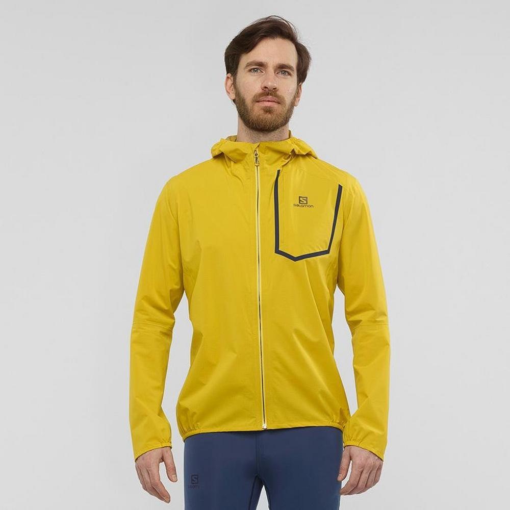 Salomon Men's Salomon Bonatti Pro Waterproof Jacket - Yellow