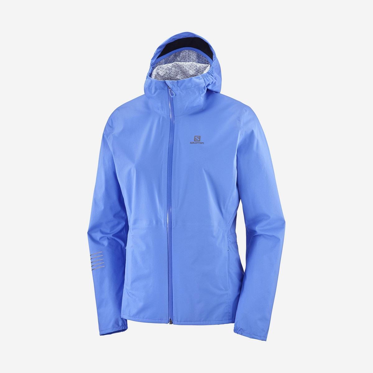 Salomon Women's Lightning Waterproof Jacket - Blue
