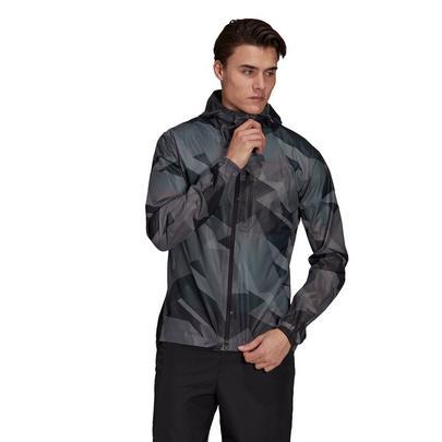 adidas Terrex Men's Agravic Graphic 2.5 Layer Rain Jacket - Grey