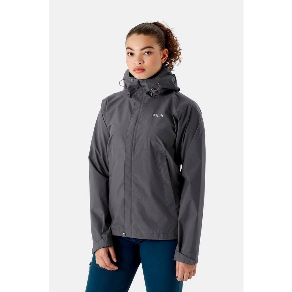 Rab Women's Downpour Eco Jacket - Graphene