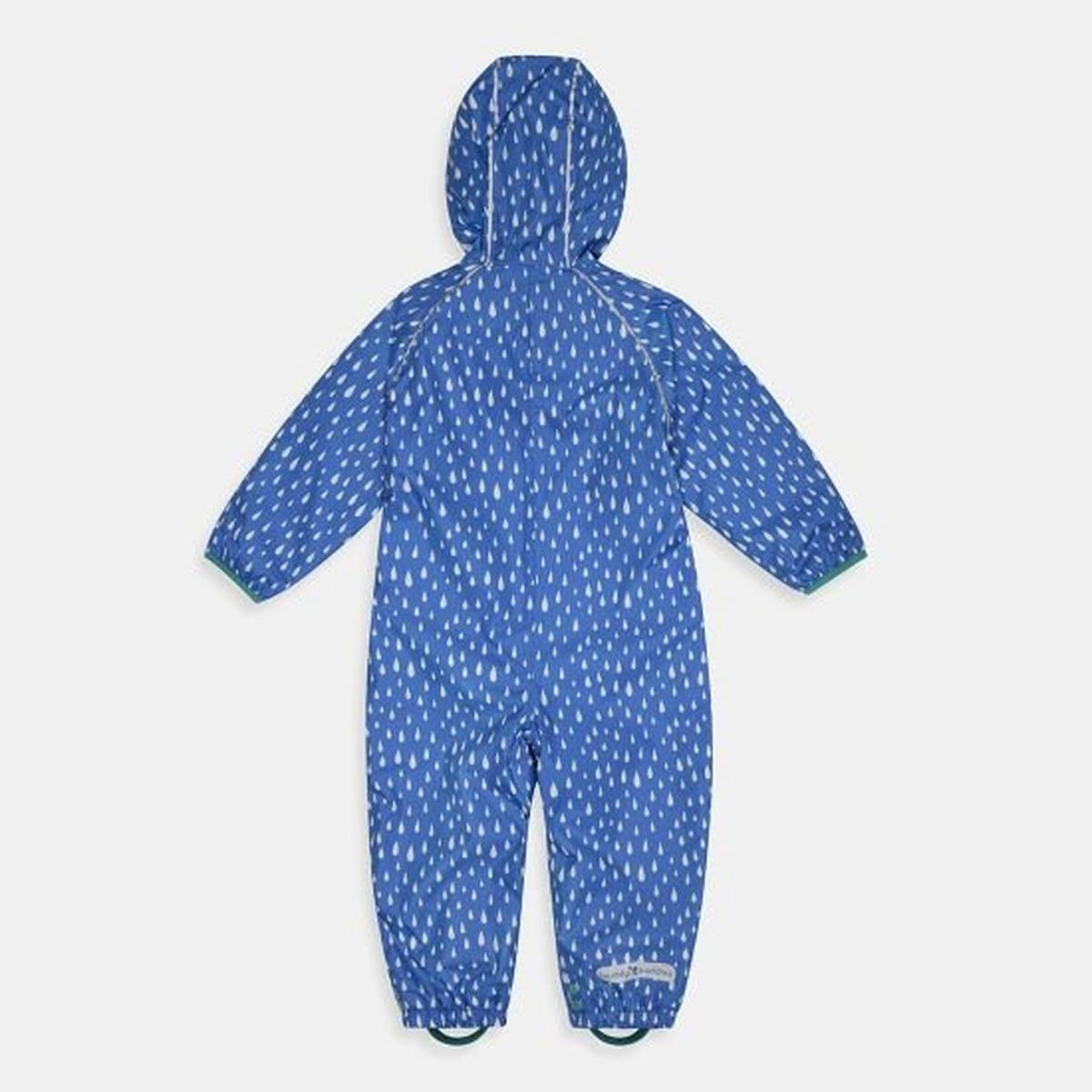 Muddy Puddles Kids' All-In-One Fleece Lined Puddlesuit - Blue