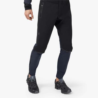 On Men's Waterproof Pants - Black / Navy