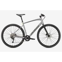 Sirrus X 3.0 Hybrid Bike - 2021 - Gloss Flake SIlver/Ice Yellow/Satin Black