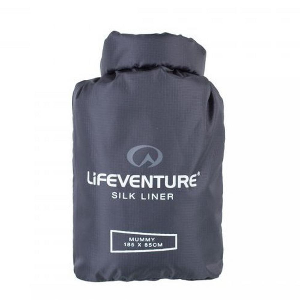 Lifeventure Silk Sleeping Bag Liner Mummy shape Grey