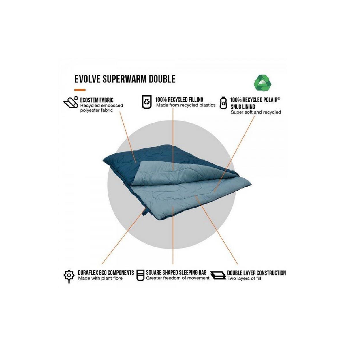 Vango Evolve Superwarm Double - Moroccan Blue