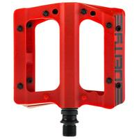 Compound V2 Flat MTB Pedals - Red