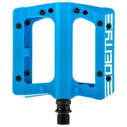 Deity Compound V2 Flat MTB Pedals - Blue