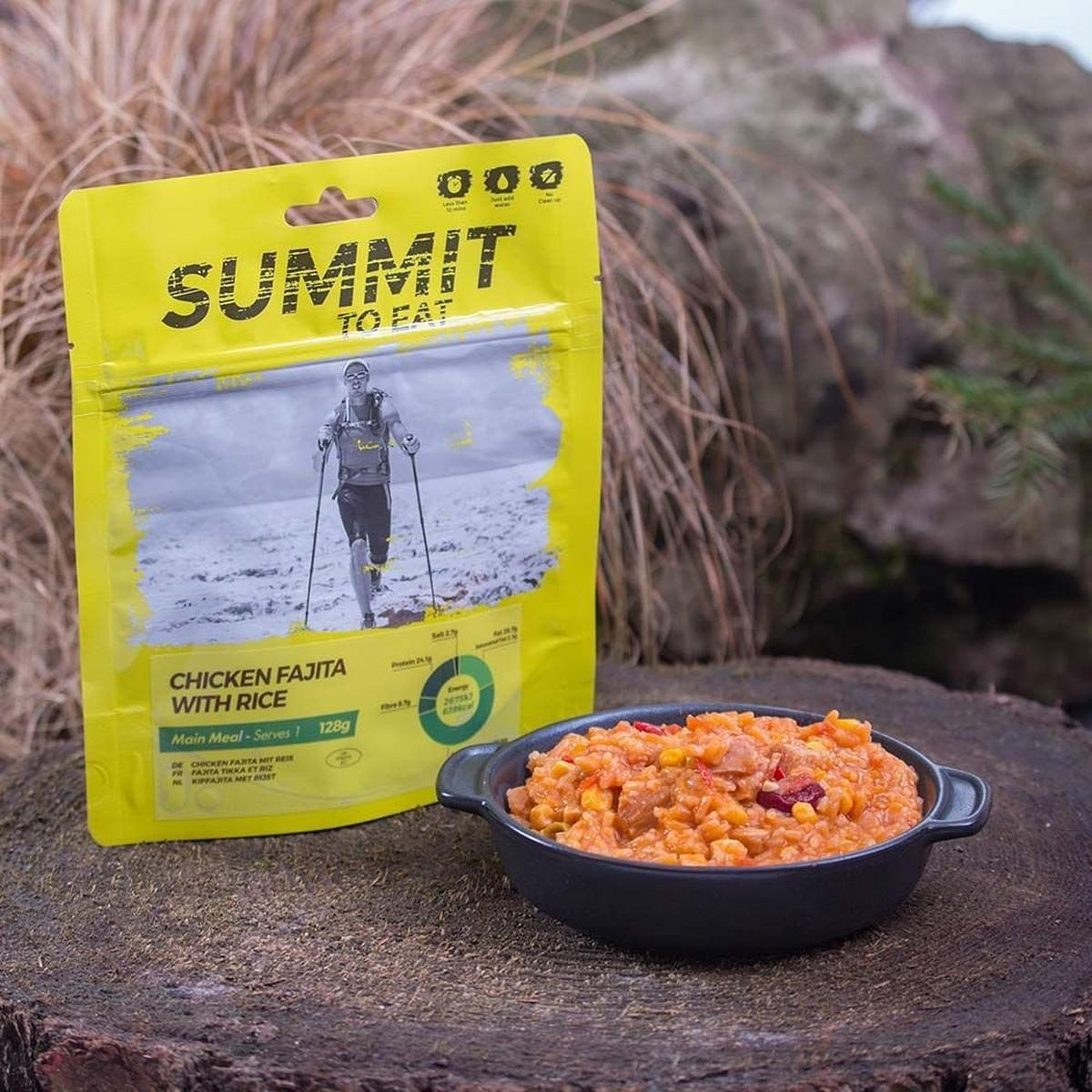 Summit To Eat Camping Meal: Chicken Fajita with Rice