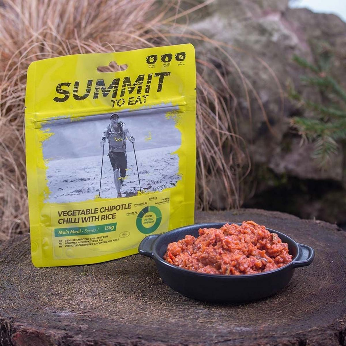 Summit To Eat Camping Meal: Vegetable Chilli with Rice