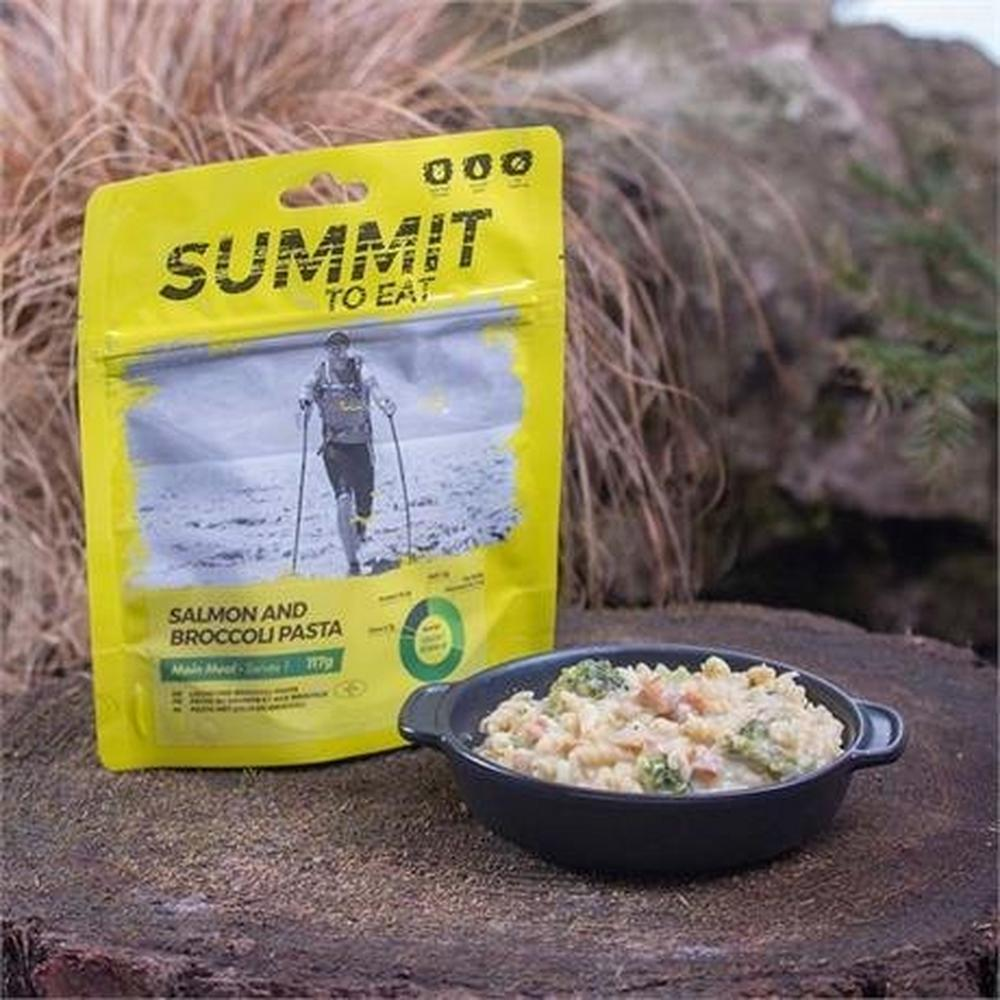 Summit To Eat Camping Meal: Salmon and Broccoli Pasta